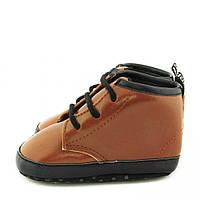 Демисезонные высокие пинетки - ботинки на мальчика Berni Коричневые