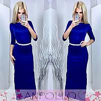Платье в пол цвета электрик 11836