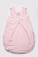 Детский конверт из велюра для сна (спальник для новорожденной) ТМ Модный карапуз Розовый