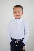 Детский нарядный гольф для мальчика 4-8 лет из 100% хлопка (р. 110-128) ТМ Модный карапуз Белый