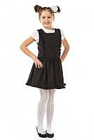 Детский сарафан 17-170 из полушерсти для девочки 7-14 лет (школьная форма, р. 122-146) ТМ Kids Couture Черный и Синий