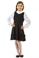 Детский сарафан 17-168 школьный для девочки 7-11 лет (50% шерсть, р. 122-146) ТМ Kids Couture Черный и Синий
