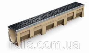 Канал ACO Multiline V 100 , тип 0.0.2 кромка из нержавеющей стали