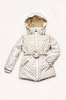Красивая детская куртка осень/весна для девочки 1,5-4 лет Модный карапуз