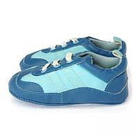 Красивые пинетки - кроссовки с резиновой подошвой для мальчика (р. 12,5) Berni Синий