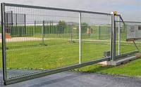 Ворота откатные (сдвижные, раздвижные) автоматические (сетка пфх, канилированная).