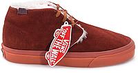 Кеды мужские зимние  Vans - 35z бордовые