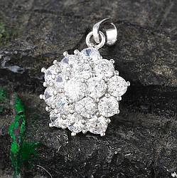 Кулон родій, Чарівна квіточка з розсипом цирконію, Xuping