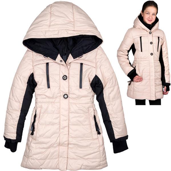 Куртка зимняя  для девочки спортивного фасона