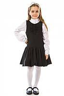 Сарафан 17-169 для школы из полушерсти для девочки 7-14 лет (р. 122-158) ТМ Kids Couture Черный