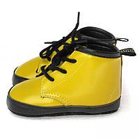 Стильные пинетки для новорожденного мальчика (обувь на первый шаг) Berni Горчичный