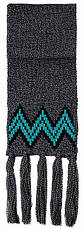 Теплый вязанный молодежный шарфик унисекс от Loman Польша, фото 2