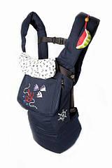 """Эргономичный рюкзак-переноска из хлопка """"My baby Морской"""" (3 положения, до 20 кг.) ТМ Модный карапуз"""