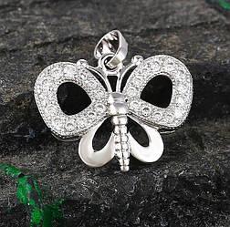 Кулон родій, Метелик з розсипом цирконію, Xuping