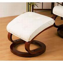 Массажное кресло + пуф STILISTA с подогревом белое, фото 3