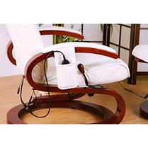 Массажное кресло + пуф STILISTA с подогревом белое, фото 2