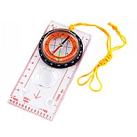 Жидкостной планшетный компас TSC-45, масштабные линейки, увеличительная линза, шнурок