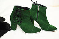 Стильные и комфортные женские ботиночки от TroisRois из натурального замша на молнии и завязке