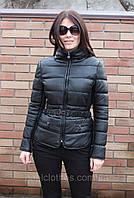Куртка с кожзама с поясом
