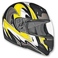 VEGA Мотошлем модуляр SUMMIT II Graphic Желтый, S