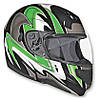 VEGA Мотошлем модуляр SUMMIT II Graphic Зеленый, S
