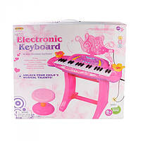 Детский синтезатор для детей HK-5050C ГОЛУБОЙ и РОЗОВЫЙ