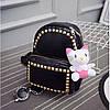 Маленький женский рюкзак из кожзама с заклепками, фото 2