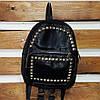 Маленький женский рюкзак из кожзама с заклепками, фото 5
