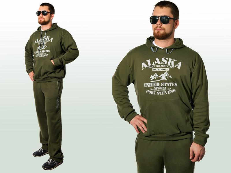 Мужской спортивный костюм с начесом Аляска хаки  продажа, цена в ... 3f2b3b9cfbf