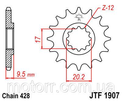 Зірка передня JT JTF1907.13