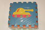 Развивающий коврик Мозаика 0377 EVA Транспорт,10 шт., 30-30 см, фото 6