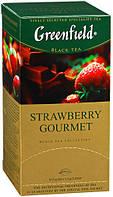 Чай Гринфилд Strawberry Gourmet черный с клубникой 25 пакетов по 1.5г