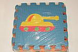 Развивающий коврик Мозаика 0377 EVA Транспорт,10 шт., 30-30 см, фото 7