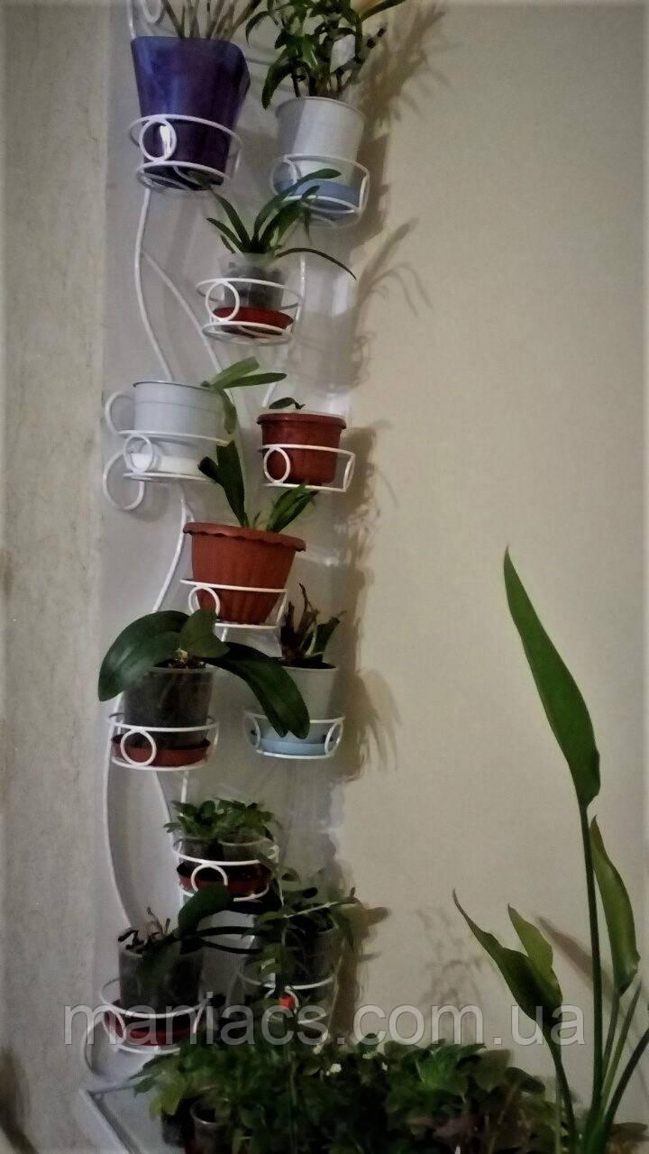 Цикламена-2, подставка для цветов со стеклом в основании