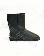 Мужские черные кожаные угги из овчины UGG Australia