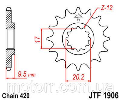 Зірка передня JT JTF1906.14