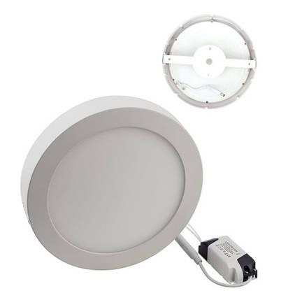 Светодиодный cветильник накладной 12W 4000K круглый белый (потолочный) Код.57619, фото 2