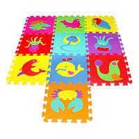 Развивающий коврик Мозаика 0388 EVA Морские животные ,10 шт., 30-30 см