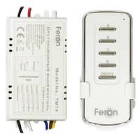 Дистанционный выключатель Feron TM74: 4 канала 1000 Вт, пульт ДУ радиус радиосигнала 30 м