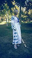 Платье с вышивкой СЖ 125 макси платье Вышитое платье Длинное платье Вечернее платье
