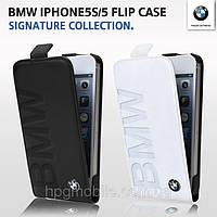 Чехол для iPhone 5/5S - BMW debossed logo leather flip
