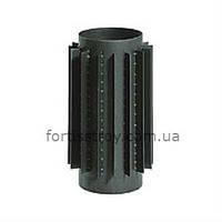 Труба-радиатор дымоходная из черного металла 130мм 1,0м, 2мм