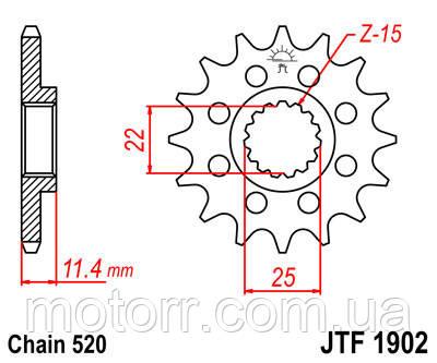 Звезда передняя JT JTF1902.16