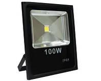 Мощный светодиодный прожектор Feron LL-841: 100 Вт, закаленное стекло, алюминий, влагозащита