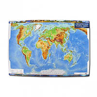 Физическая карта мира м-б 1:35 000 000 РУС