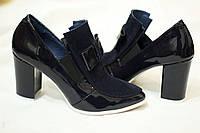 Бомбовые и комфортные женские туфли от TroisRois из натурального замша и лаковой кожи