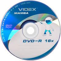 Диски DVD-R Videx 4,7Gb 16x bulk 50 штук