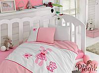 Комплект постельного белья с вышивкой для новорожденных Cotton Box MinikTavsan
