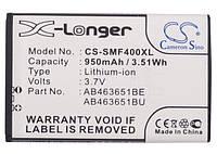 Аккумулятор SAMSUNG GT-C3322 (950mAh [повышенной емкости с задней крышкой] / 3.7V / Li-ion) CameronSino