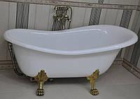 Ванна BESCO OTYLIA 160x77 з ніжками бронза